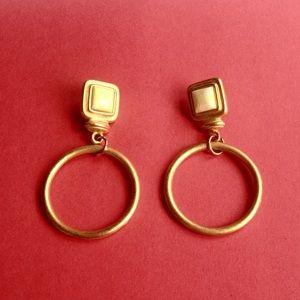 Vintage Golden Hoop Earrings
